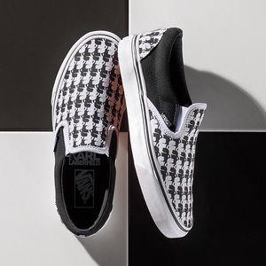 Vans x Karl Lagerfield slip-on Shoe, sz 7.5